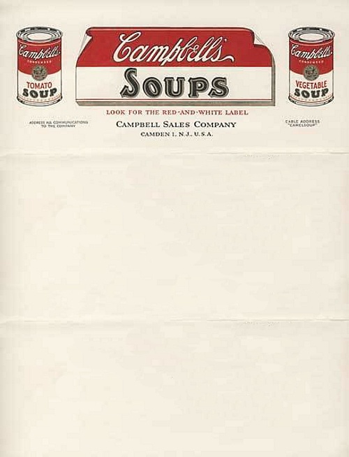 Classic design styles are sometimes the best! I like how they made their letterhead look like a brand label off of a can of soup. It grabs attentions, yet is still formal.