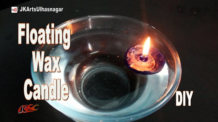 DIY Floating Wax Candle | How to make with  Gems Ball | JK Arts 1088