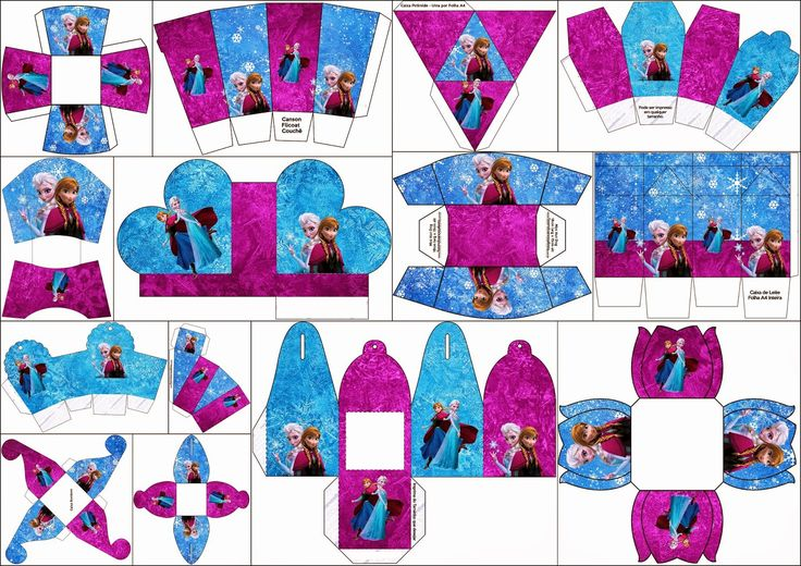 Frozen in Blue and Purple: Free Printable Boxes.