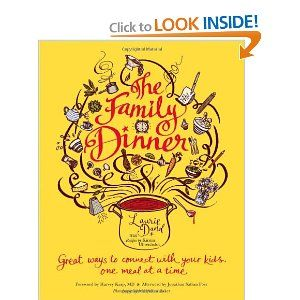 Love this book which discusses the importance of family meal time being spent together.......gives great recipes for the family to make together, creative ways to present your meals in a simplistic or more complex manner - - check it out!