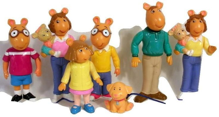 1996 Assorted Lot Of Arthur The Aardvark PVC Figures Marc Brown Hasbro #Hasbro