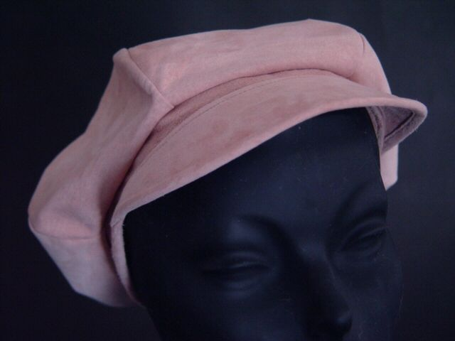 Suede Leather Hat shown in Pink