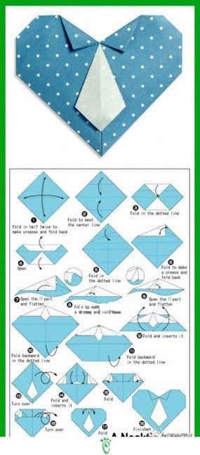 heart w/tie origami
