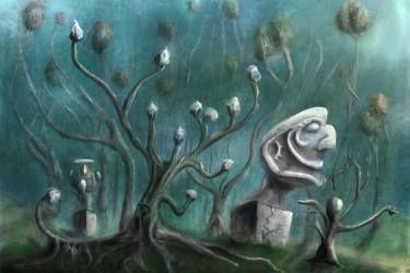 """Saatchi Art Artist Szilárd Juhász; Painting, """"'Statue Park'"""" #art"""