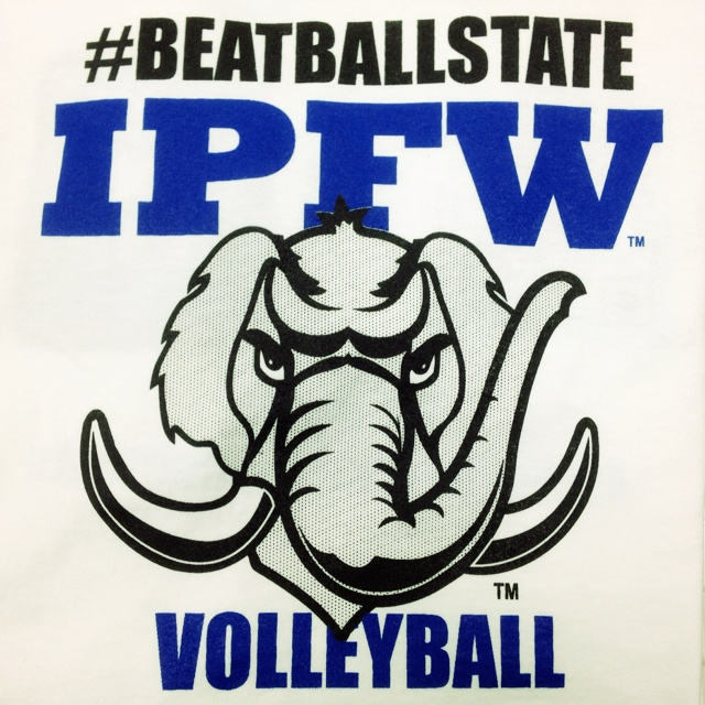 Front of the T-Shirt for the game tomorrow night, good luck IPFW!