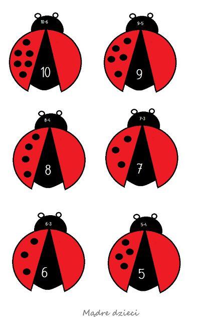 Dodawanie i odejmowanie - z biedronkami, motylkami i cukierkami - Mądre dzieci