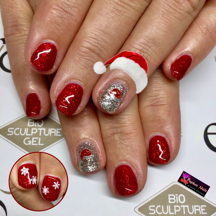 #itsbeginningtolookalotlikechristmas #santahats and #snowflakes #seductivelights #duchess #red #silver #paphosnails #biosculpturebytheresa #kissonerganails #pafos #biosculpturecyprus