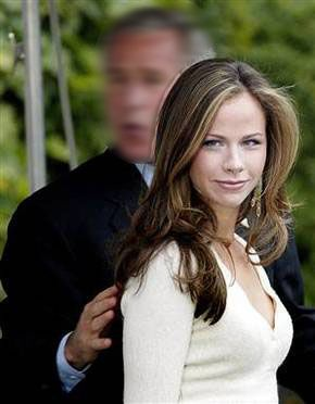 Barbara Pierce Bush born in 1981, daughter of George and Laura Bush.  Her twin sister is Jenna Bush