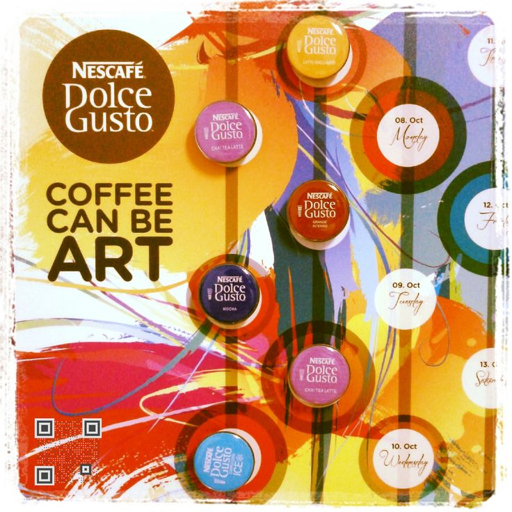 dolce gusto sample ounchtag qr codes pinterest dolce gusto gusto and nescafe. Black Bedroom Furniture Sets. Home Design Ideas