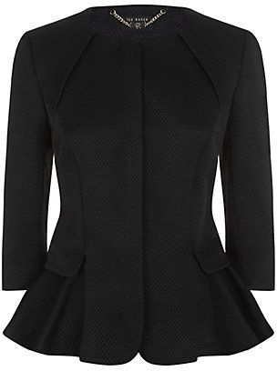 Ted Baker Flared Peplum Jacket on shopstyle.com.au