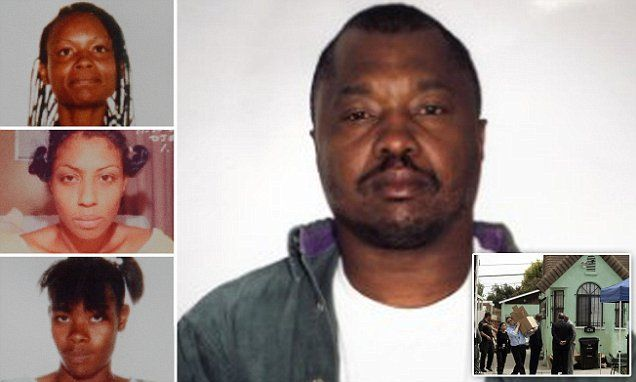 """Grim Sleeper"" Lonnie Franklin Jr., tied to a large number of murders by DNA, may eventually prove to have killed as many as 180 people. 3 known victims, top to bottom: Henrietta Wright, Enietra Washington (survived), Alicia Alexander."