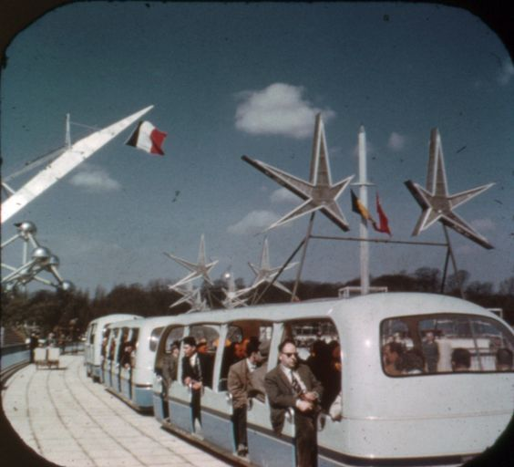 Expo '58, l'Exposition universelle de Bruxelles: Tram, à partir d'un souvenir bobine View-Master.