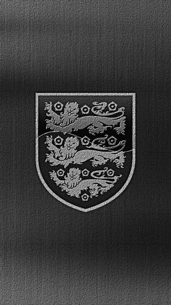 Black Background England Team Logo Wallpaper England Cricket Team England Football Team England National Football Team