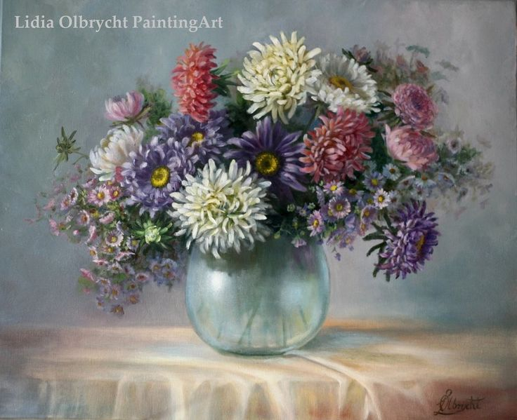 Asters - autumn flowers by Lidia Olbrycht (Poland)