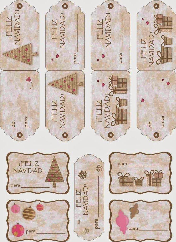 Otra entrega de etiquetas de Navidad  Sencillas y en español   Enlaces:   http://sugar-and-pepper.blogspot.com.es/2012/12/etiquetas-para-nav...