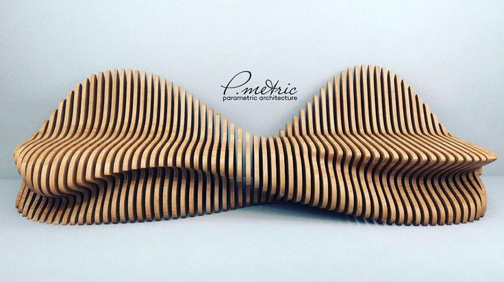 Parametric bench  #p_metric - параметрическая  мебель из фанеры P.metric #furniture #wood #plywood #parametricdesign #parametric #table #sofa #bench