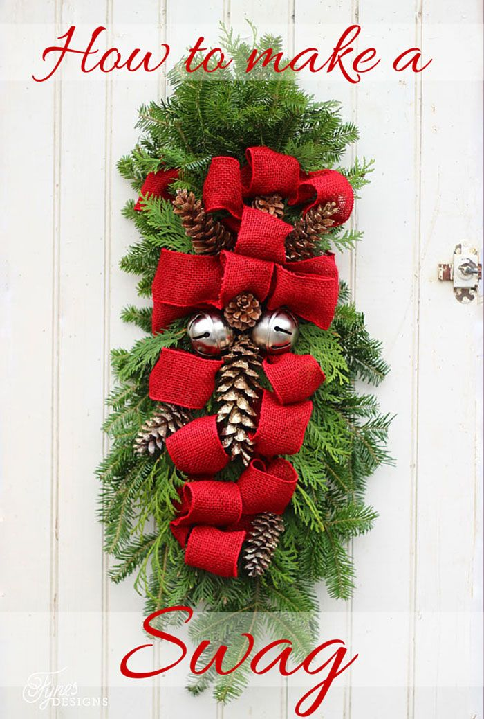 How to make a Christmas Door swag. Easy to follow instructions