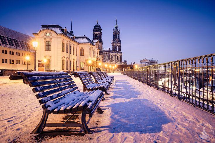 Brühlsche Terrasse im Winter