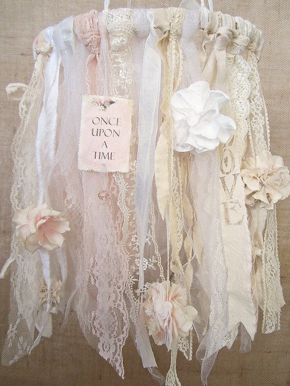 Baby Mobile Baby Girl Mobile Shabby Chic Nursery by kathyjacobson