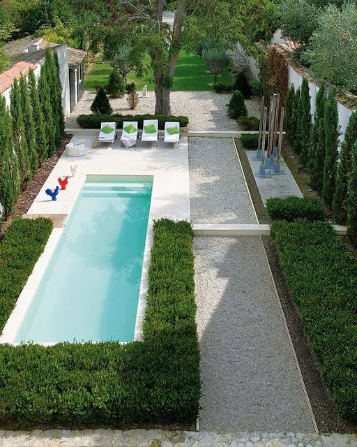 Unusual planting around the pool garden area, but very neat. #landscaping #pool