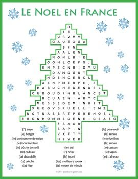 A fun word search puzzle for the holiday season featuring French Christmas vocabulary. Students must look in all directions (including diagonally and backwards) to find the 22 words associated with Nol.Answer key included.Save money and get enough French word search puzzles for a whole year of fun searching: 50 French Word Search BundleWe love FEEDBACK!