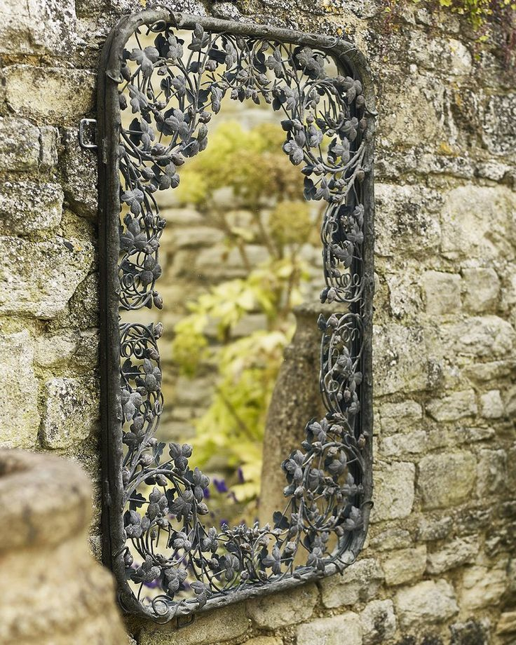 mirrordeco.com — Thousand Leaves Mirror - Filigree Metal Fame H:102cm