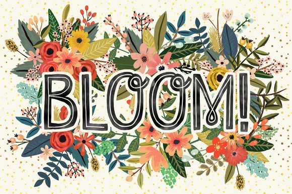 Bloom! Flower Collection by Mia Charro on Creative Market