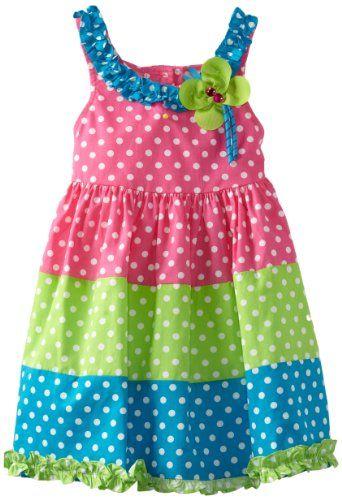 Rare Editions Girls 2-6X Colorblock Woven Dress:Amazon:Clothing ♡♡♡