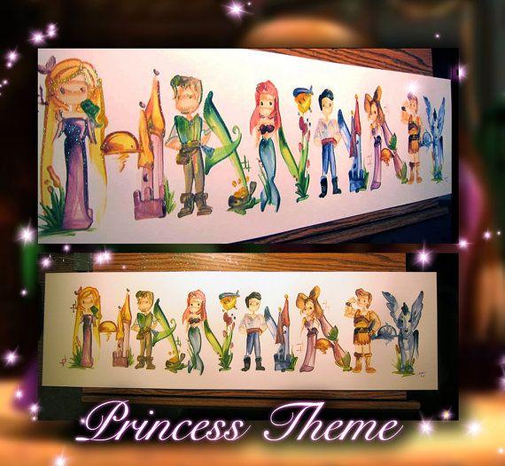 I want this! Princess Name Painting by Legendbrush on Etsy, $21.00
