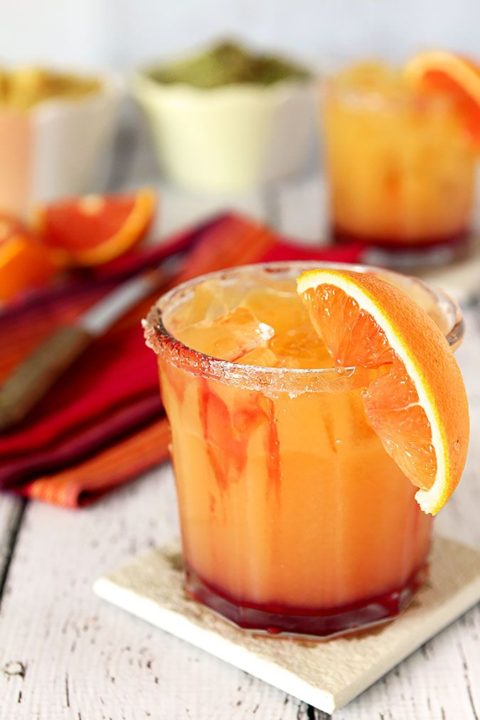 Tequila Sunrise Margarita for National Margarita Day | http://www.creative-culinary.com/tequila-sunrise-margarita/