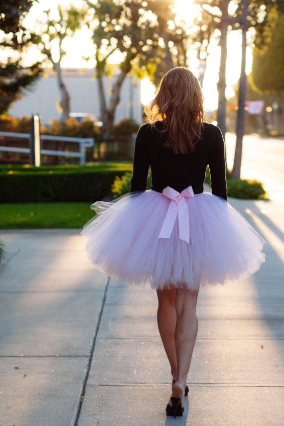 Light Pink Adult Tutu Bridesmaid Adult Tutu by PiaMiaBoutique