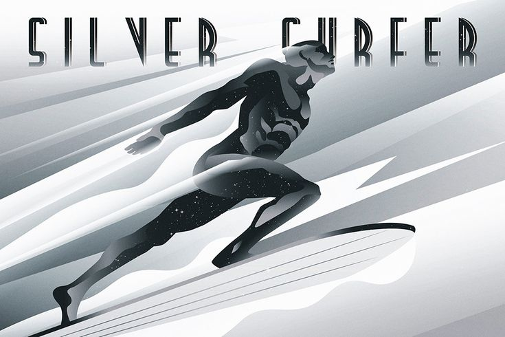 Silver Surfer by Rodolfo Reyes / Tumblr 36″ X 24″ giclee prints on metallic silver paper, limited edition of 60. Available from the Hero Complex Gallery HERE.