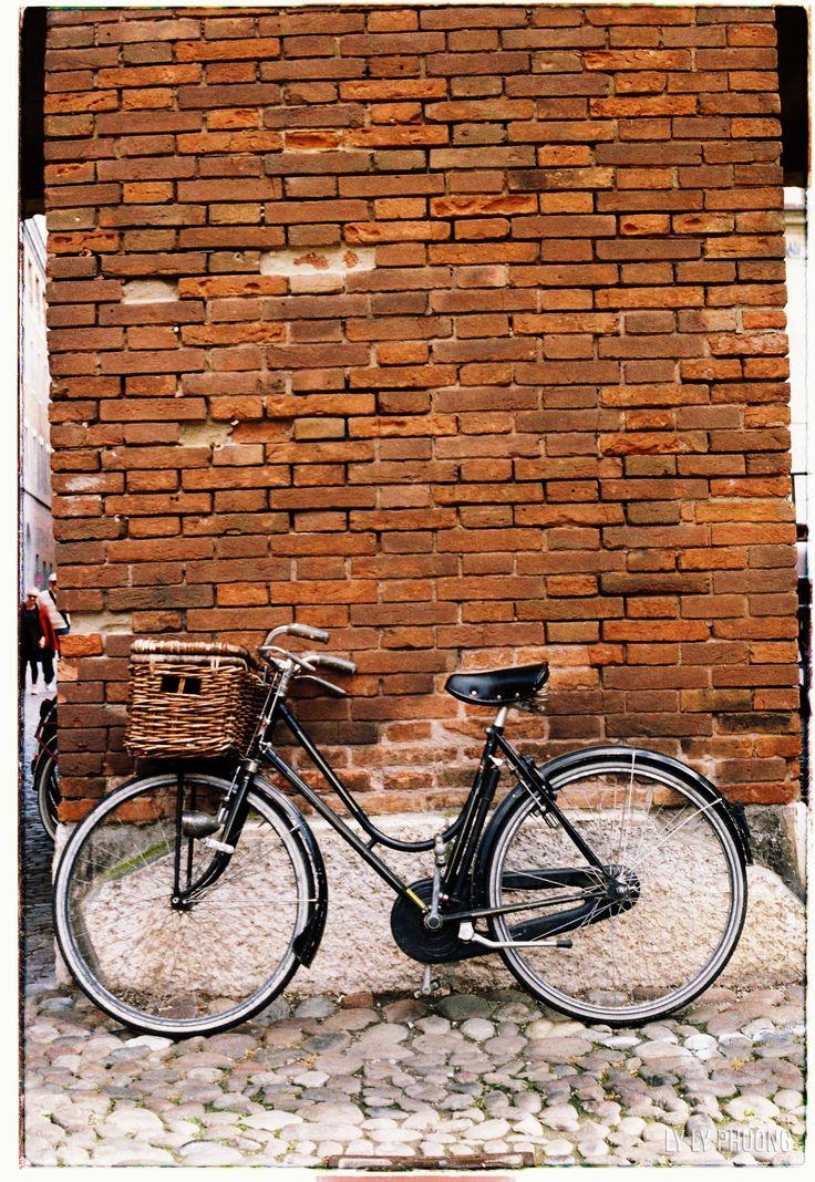 A bike in #Ferrara - #Italia Taken by #praktica #pellicola collection