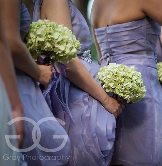 Light Green Hydrangea Wedding Bouquet  Hand Tied by KateSaidYes, $55.00 for bridesmaids