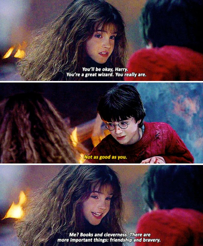 This heartwarming reminder of the real reasons Hermione was sorted into Gryffindor instead of Ravenclaw: