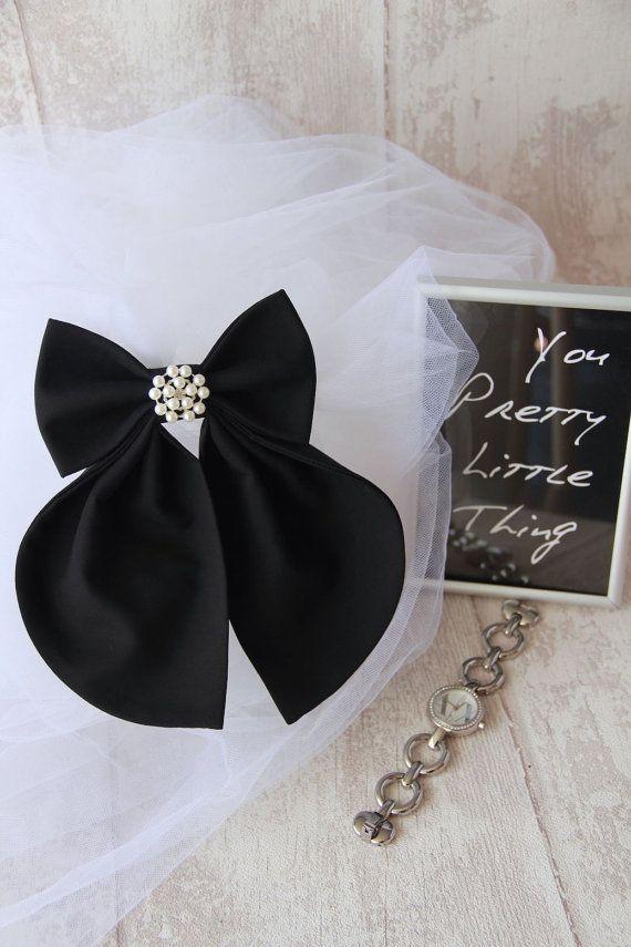 Black Matte Women's Bow Genuine New #BowsByVaniaSzasz #handmade #etsy