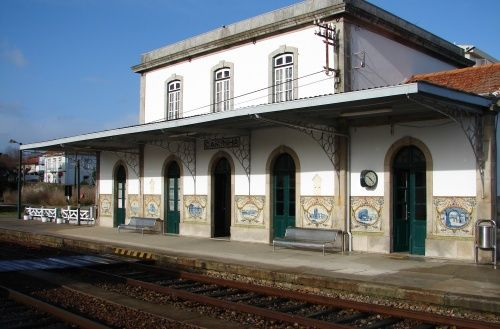 Gilberto Renda   Estação Ferroviária de / Railway Station of Caminha   s. d. #Azulejo #GilbertoRenda