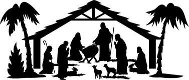 Nativity Silhouette/eps Royalty Free Stock Photos; lots of images