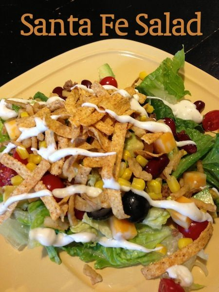 Santa Fe Salad- a perfect summer dinner, and so easy. By EazyPeazyMealz.com