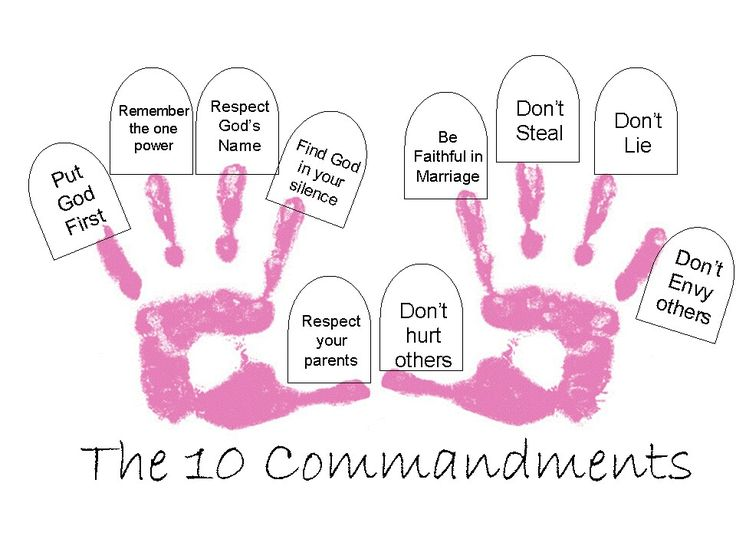 145 best Sunday School Ten Commandments images on Pinterest ...