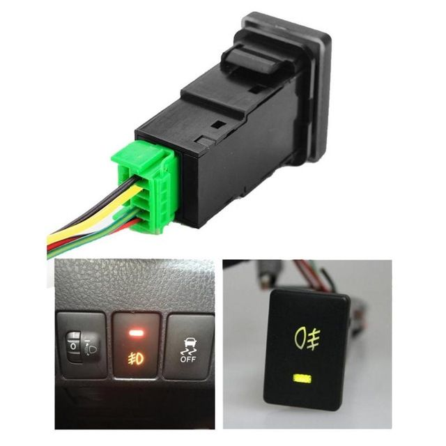 12v Car Fog Led Switch Lamp Light On Off Button For Toyota Camry Corolla Car Styling Auto Car Accessory Round Rocker Switch New Corolla Car Toyota Camry Camry