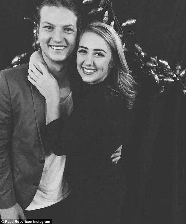 Going to the chapel:Reed Robertson, 20, has proposed to his girlfriend. The Duck Dynasty star popped the question to Brighton Thompson, 19, in New York City's Central Park on Tuesday during a family vacation