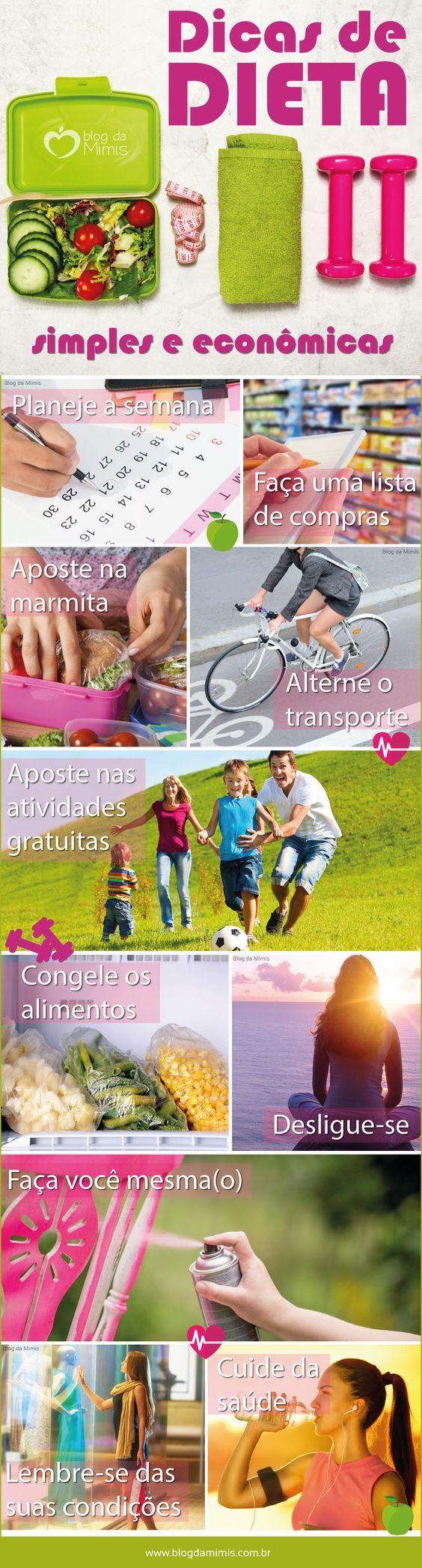 Emagreça com dieta simples e econômica - Blog da Mimis #infográfico #blogdamimis #saúde #culinária