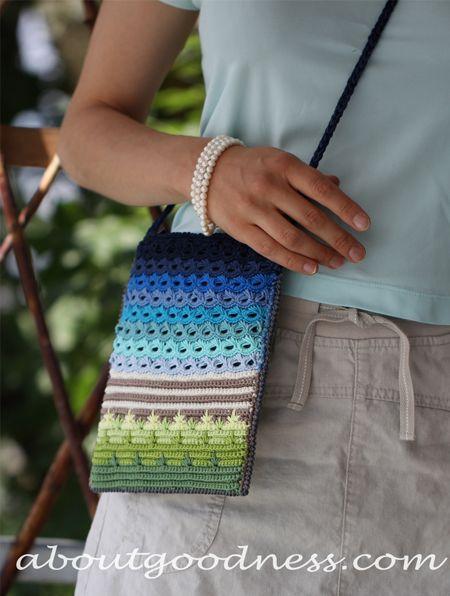 Crochet Unique Bag Free Pattern Front