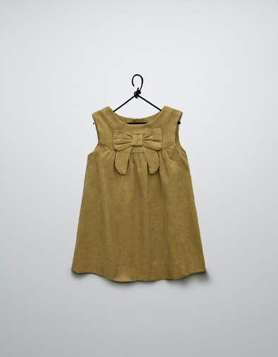 needle cord dress with bow and chain - Dresses - Baby girl (3-36 months) - Kids - ZARA United Kingdom