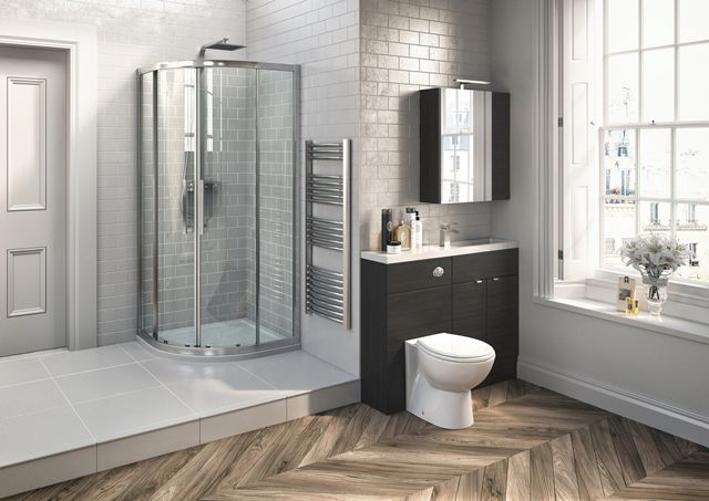 Medley Hacienda Black will make a statement in any size of bathroom