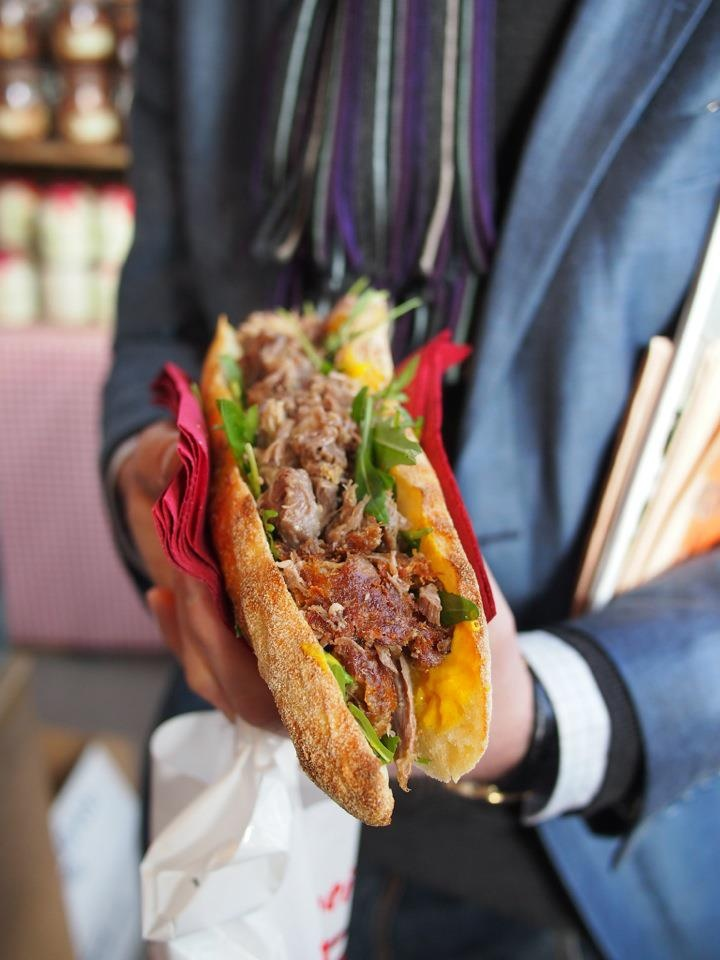 Confit de Canard sandwich at Torvhallerne - CPH