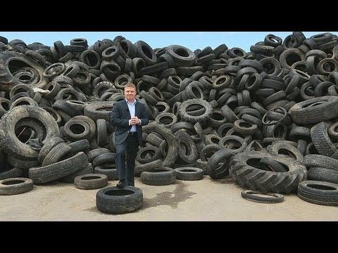 Recycling tyres: road to success - business planet - YouTube