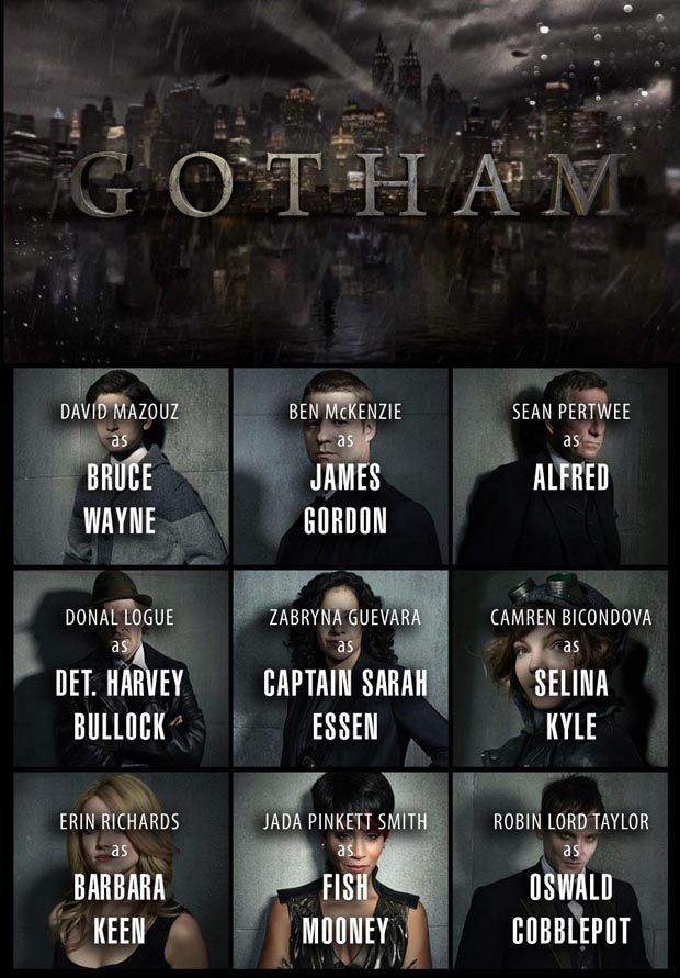 Gotham TV Show | Cast Key for Gotham TV Show on Fox