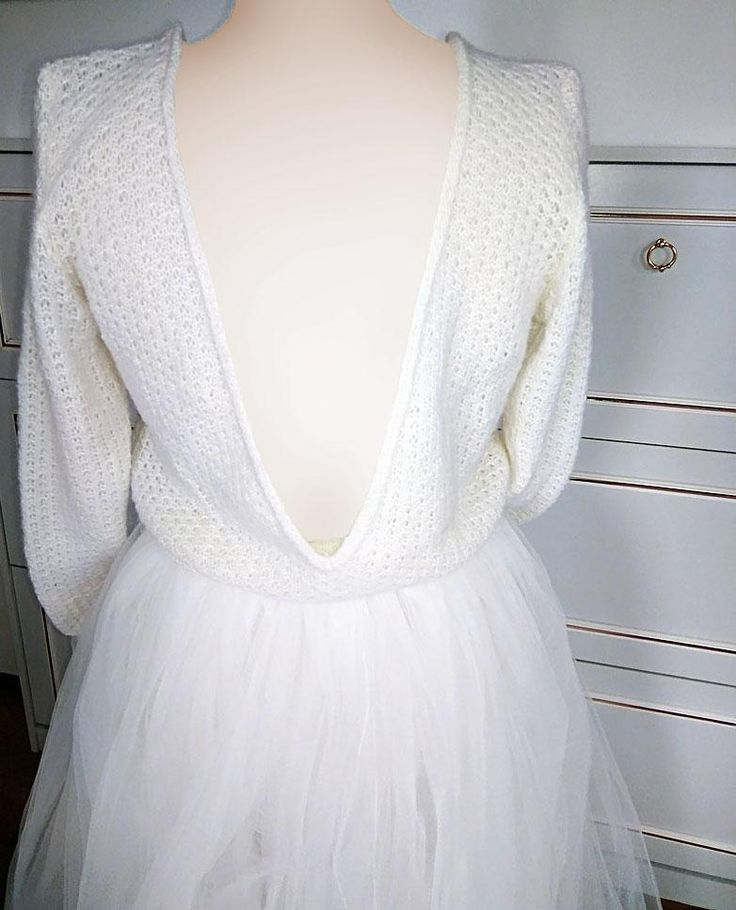 brautpullover chilly im lacemuster mit extra grossem